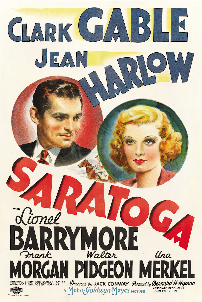 Saratoga movie poster, 1937