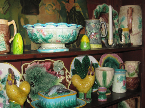 Majolica china still in the Studio today
